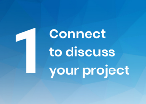 1. Connect to discuss your project